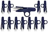 Sharp Point Quick-Clip Lightweight Thread Snippers (12 Piece Pack)