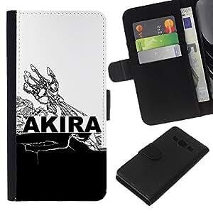 JackGot ( Akira ) Samsung Galaxy A3 la tarjeta de Crédito Slots PU Funda de cuero Monedero caso cubierta de piel