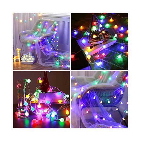 LE Catena Luminosa 13M 100 Lampadina LED RGB, Luci Stringa Impermeabile per Esterno ed Interno, 8 Modalità di Illuminazione e Funzione Timer, Ideale per Decorazione Casa, Natale, Feste, Giardino 4 spesavip