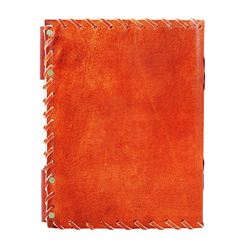 Back To School Supplies Leather Journal Diary Writing Notebook Personal Travel Diary Unlined Paper Sketchbook Doodle Art Book Recipe Book Organizer 8 x 6 Inches Anniversary Gifts For Him & Her by The Great Indian Bazaar (Image #3)