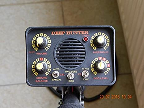 Pirate Deep Hunter Camo 7 - 14 kHz Detector de metales profesional: Amazon.es: Jardín