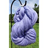 Periwinkle Merino Wool Top Roving Fiber Spinning, Felting Crafts USA (1 ounce)