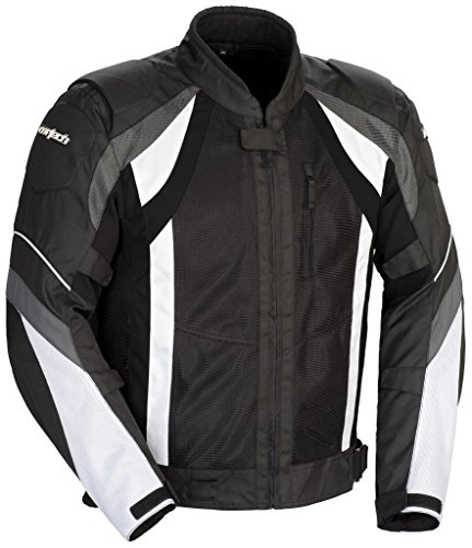 Cortech VRX Air Mesh Men's Motorcycle Jacket Black/Gun/White Medium