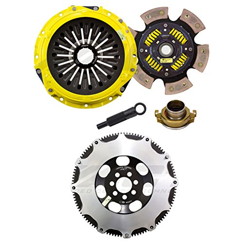 Act Clutch Flywheel (ACT Heavy Duty Race Sprung 6 Pad Clutch with Streetlite Flywheel for 2008-15 Mitsubishi EVO 10 X GSR)