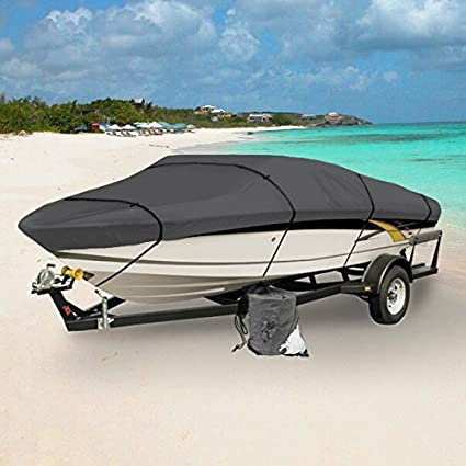 Grey Boat Cover Dust Cover Sun Protection Waterproof Shade Durable Kayak Cover