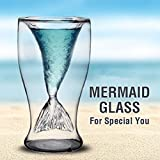 Creative Design Double-layer Transparent Mermaid Drinking Glass Cup