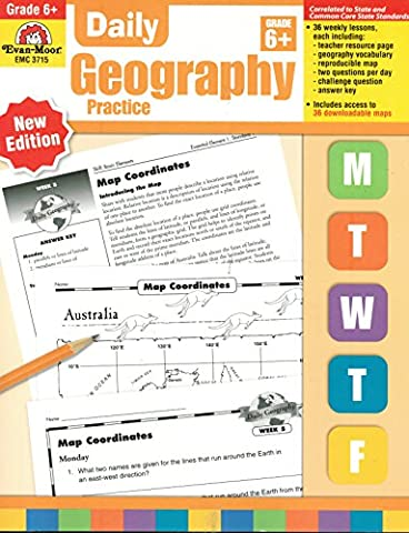 Daily Geography Practice, Grade 6+ (New/Common Core Edition) (Geography Practice)