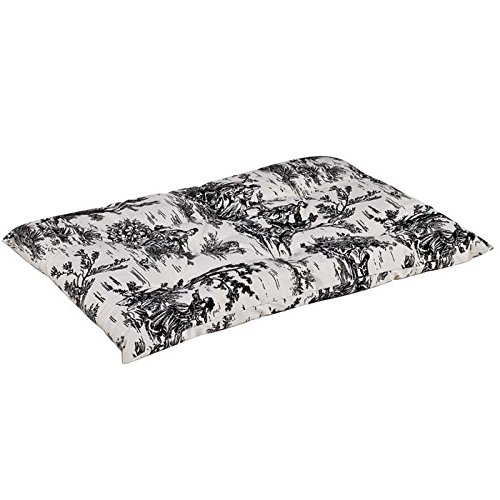 Bowsers Tufted Cushion, X-Large, Onyx Toile