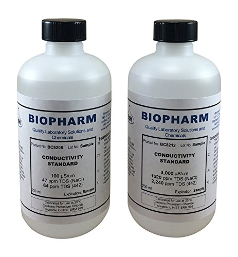 Calibration Solution Conductivity - Conductivity 2-Point Calibration Standard 2-Pack 8oz Each 100 uS and 3000 uS
