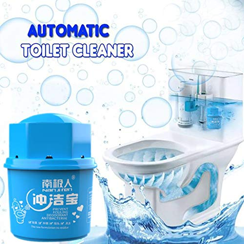 MAMaiuh Automatic Toilet Bowl Cleaner, Eco Friendly Toilet Tank and Bathroom Cleaning System Bleach and Blue Cleaning, Scrub-Free, Long Lasting, Natural Scent, Safe for All Pipes and Septic Tanks