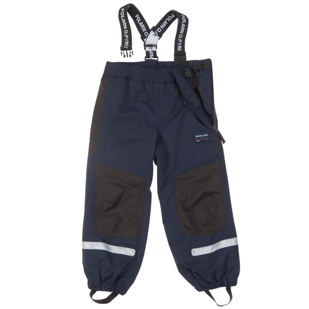 Polarn O. Pyret Waterproof Suspender Shell Pants (2-6YRS) - 3-4 Years/Dark Sapphire