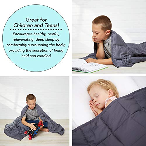 Cheap Elevoca Weighted Blanket - Heavy Cotton Cover - Weighted Comforter for Kids - Adult Calming Blankets - Cool WeightedBlanket - Relaxation Comforter - Weighted Blanket with Glass Beads - 12LB Bedspread Black Friday & Cyber Monday 2019