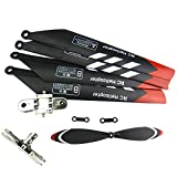 NiGHT LiONS TECH Main Blades Tail Rotor Upper Lower main blade grip set and 2 pcs Connect Buckle spare parts for HCW 8500 8501 Sky King Rc Helicopter