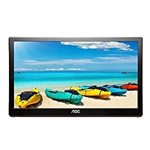 AOC i1659fwux 16-inch IPS Ultra Slim Full HD 1920 x 1080, 220cd/m2, USB 3.0 powered portable LED monitor w/case