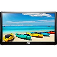 AOC i1659fwux 16-inch IPS Ultra Slim Full HD 1920x 1080, 220cd/m2, USB 3.0 powered portable LED monitor w/case