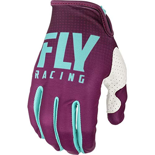 Youth Lite Racing Glove - Fly Racing 2019 Youth Lite Gloves - MEC LE (SMALL) (SEAFOAM/PORT/WHITE)