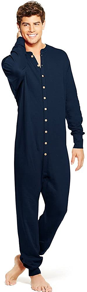 Champion Duofold by Mens Full Button Front Base Layer Union Suit