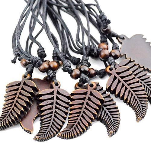 Fern Leaf Pendant - Lot 12pcs Fern Leaves Pendant Necklace Surfer Necklace