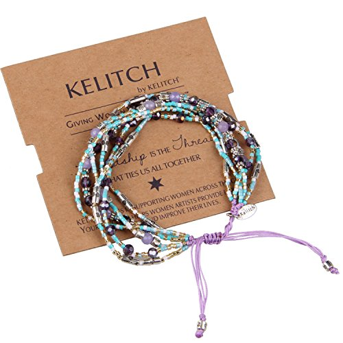 KELITCH Lazuli Crystal Bracelet Handmade
