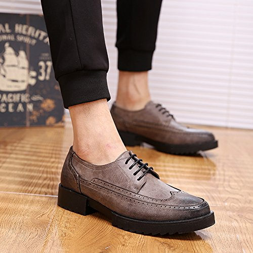 GUNAINDMX nbsp; increased Gray Standard shoes within Edition men's casual wild nbsp;Leather shoes gFxnw4Fd