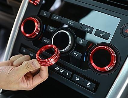 Inté rieur de voiture Style Aluminium Volume Boutons de climatisation pour piè ces d'accessoires Audio Trim de cercle Agodor