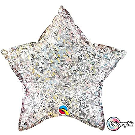 Holographic Balloonsilver10 Shaped Foil 20 Star Qualatex Inch 6yfb7g