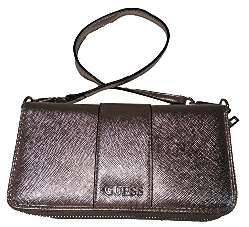 Guess Women's Zip Around Wristlet Wallet Ware Rose Gold