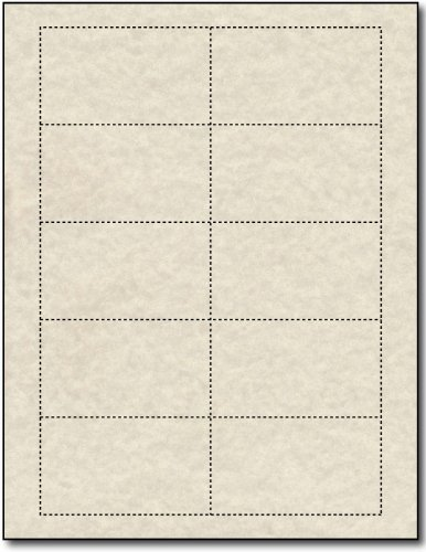Natural Parchment 65lb Blank Business Cards - 100 Sheets / 1000 Business Cards by Desktop Publishing Supplies, Inc.