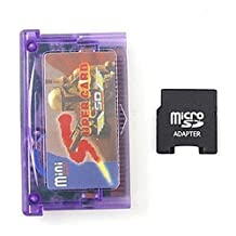 mentalKase ® Mini SD to Super Card Adapter For GBA SP NDSL + Micro SD to Mini SD Card Adapter (TF) + USB MicroSD Card Reader