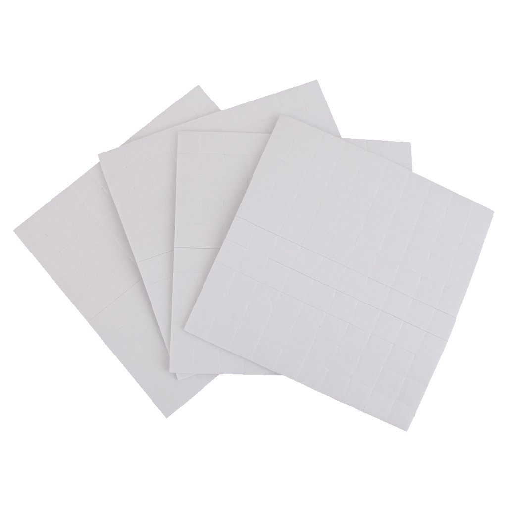 4 sheet DOUBLE SIDED ADHESIVE FOAM PADS STICKY FIXERS FOR CARD MAKING - White, 1mm MagiDeal STK0155000738