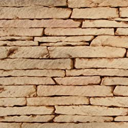 Texture Plus TP-SSL SAMP Indoor/Outdoor Siding Panel, Stacked Stone, Light Tan