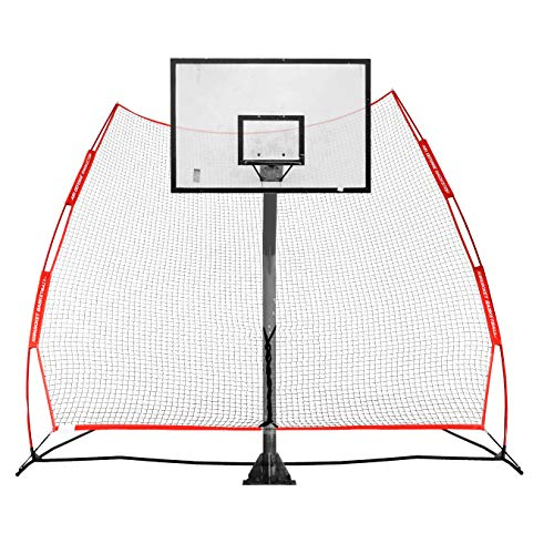 Rukket Basketball Return Net Guard and Backstop | Hoop Rebound Back Netting Attachment for Yard, Home & Residential Use | Barrier System for Safety and Retention