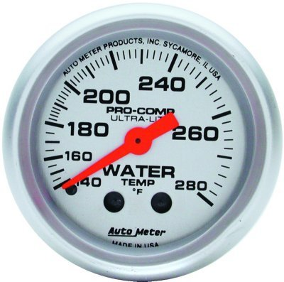 A48433120934-4331 - Autometer 4331 Water Temperature Gauge - Mechanical, Universal (Metric Water Temperature Gauge)