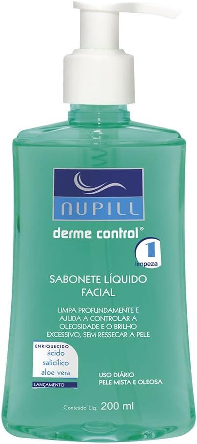 Sabonete Liquido Facial Nupill Derme Control 200Ml, Nupill, Verde