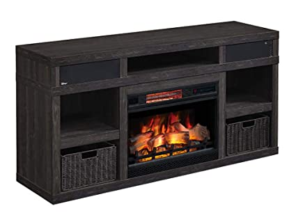 Amazon Com Greatlin Infrared Electric Fireplace Tv Stand In Black