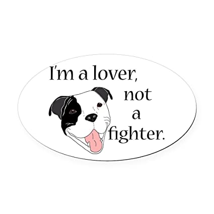 Cafepress pitbull lover oval car magnet oval car magnet euro oval magnetic bumper