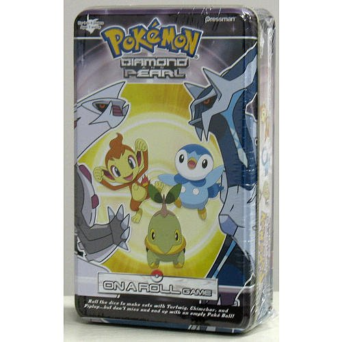 2008 POKEMON Diamond and Pearl ON A ROLL (dice board game) W/ storage tin (Pokemon On A Roll Game compare prices)