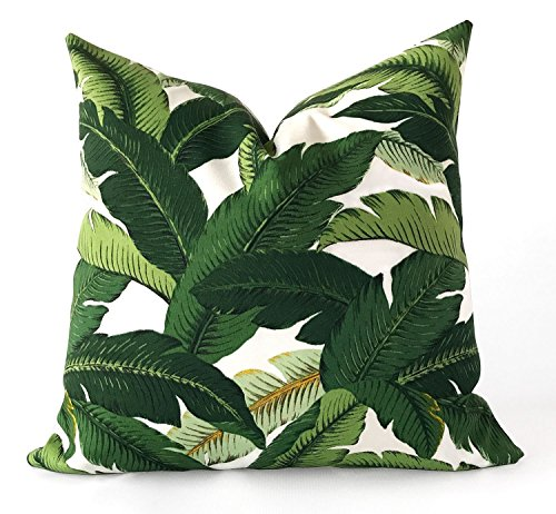 - 18x18 Banana Leaf Tommy Bahama | Great for Dorms | Hollywood Glam Vacation Resort Decor Pillow Cover