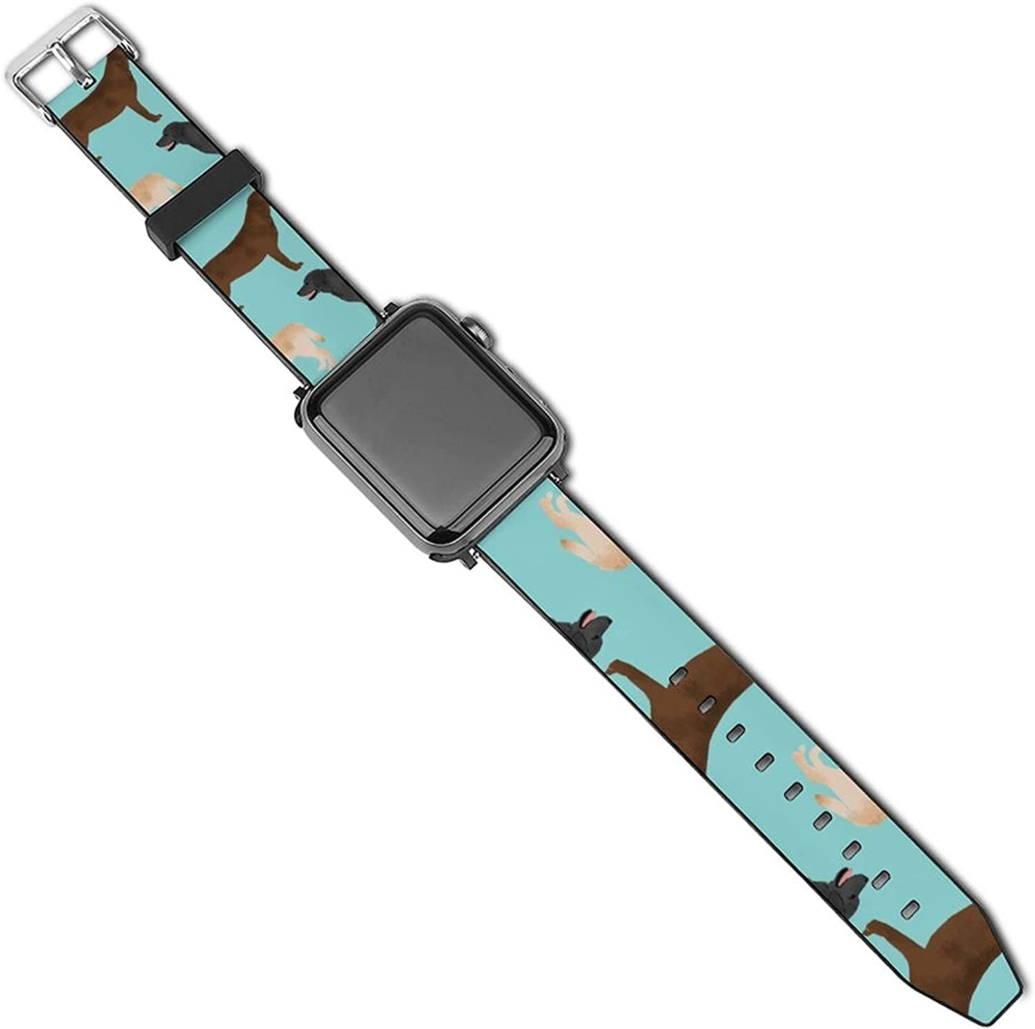 Replacement Band Compatible with Apple Watch Band Series 5/4/3/2/1, Soft Waterproof PU Leather Strap Wristband Compatible with iWatch 38mm 40mm 42mm 44mm