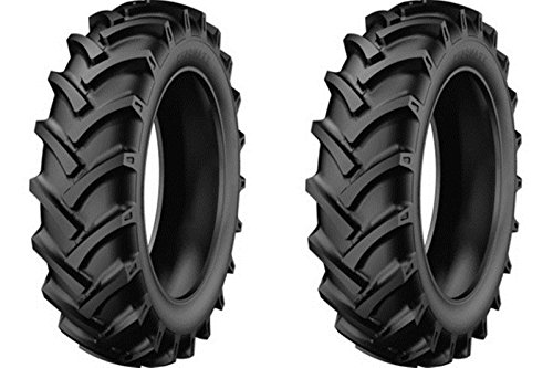 Two New 5.00-12 StarMaxx Compact Farm Tractor Trencher Tires & Tubes R1 Lug 4Ply Rated (Best Compact Tractor For Small Farm)