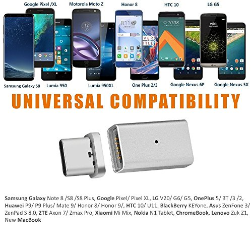 Ankey Magnetic USB C Adapter, Magnetic Fast Charging Support 4.3A USB Type C to USB C Charger Connection Converter for Google Chromebook Pixel/Samsung Galaxy S8/HTC and Other USB-C Devices by Ankey (Image #4)