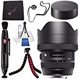 Sigma 12-24mm f/4 DG HSM Art Lens for Canon EF #205954 + Lens Pen Cleaner + Microfiber Cleaning Cloth + Lens Capkeeper + Deluxe Cleaning Kit + Flexible Tripod Bundle (International Model No Warranty)