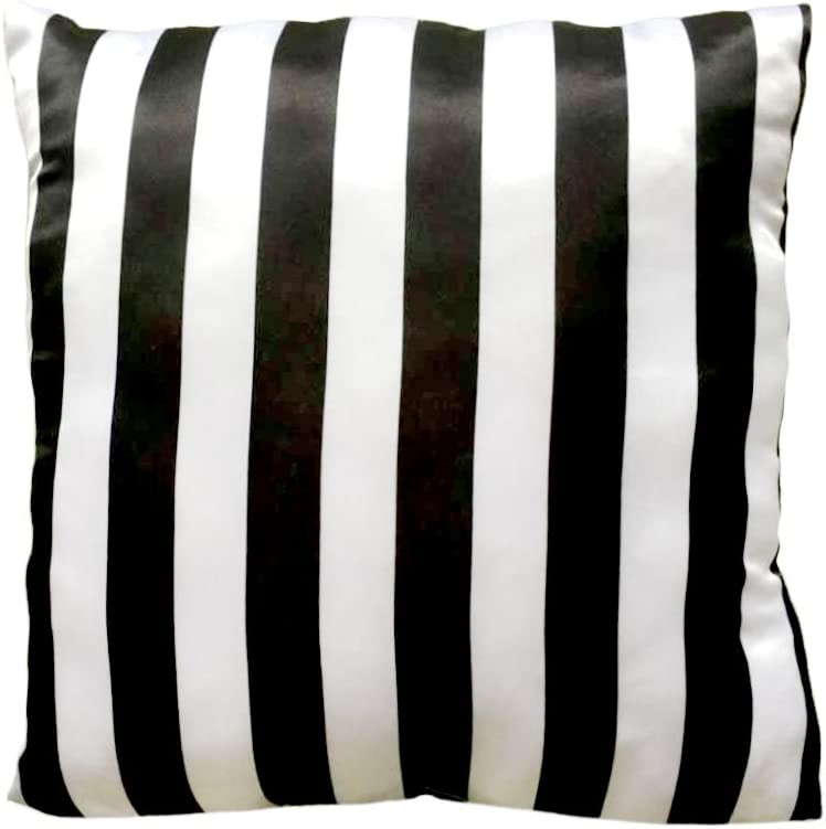 JF21624MJCD Just For Kids 3 Dimensional Pink Bow with Black//White Stripe Decorative Pillow Jay Franco and Sons Inc