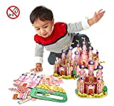 3D Puzzle Creative Handmade Assemble Jigsaw Toys Pink Princess Castle (35 Pieces)