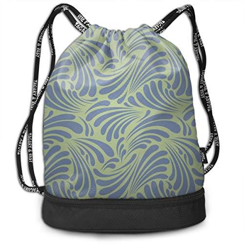 Free Art Nouveau Leaf Curls Bundle Backpack Men And Women Shoulder Bag New Fitness Bag