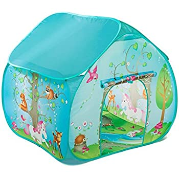 Childrens Pop Up Play Tent Designed like an Enchanted Forest with a Unique Printed Play Floor  sc 1 st  Amazon.com & Amazon.com: Childrens Pop Up Play Tent Designed like an Enchanted ...