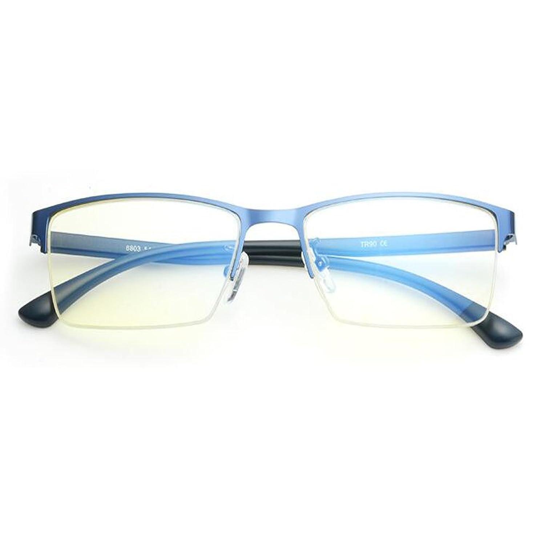 Meijunter Blaulichtfilter Brille UV400 Semi-randlos Retro Computer ...