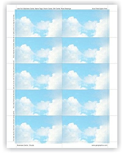 Geographics Clouds Business Cards, 2 x 3.5 Inches, Design, 250-Sheet Pack (47372S)