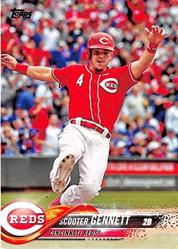 2018 Topps #153 Scooter Gennett Cincinnati Reds Baseball Card