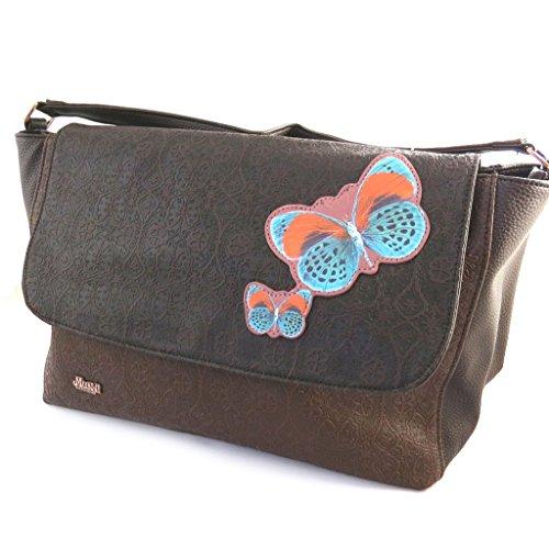 Bolsa 'french touch' 'Mundi'marrón (mariposas).